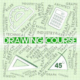Free Stock Photo of Drawing Course Shows Sketch Syllabus And Schedules