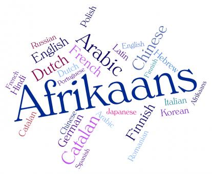 Free Stock Photo of Afrikaans Word Indicates Study Language And Lingo