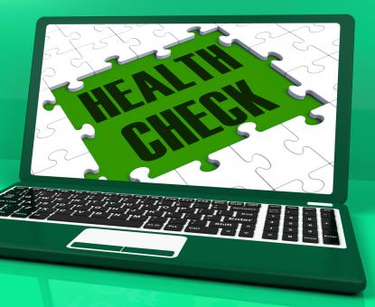 Free Stock Photo of Health Check On Laptop Showing Medical Exams