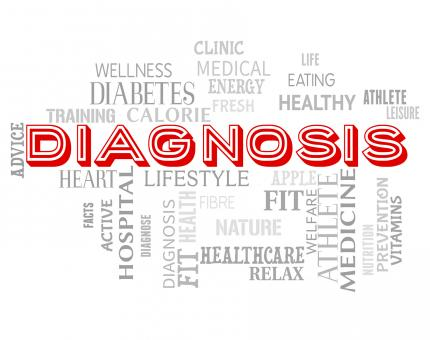 Free Stock Photo of Diagnosis Words Shows Diagnosing Health And Disease