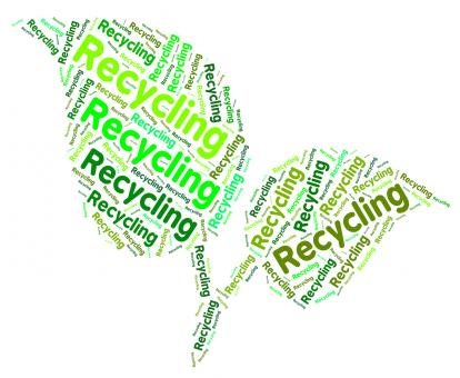 Free Stock Photo of Recycling Word Shows Eco Friendly And Recycle