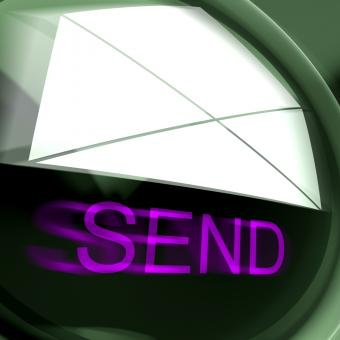 Free Stock Photo of Send Postage Means Email Or Post To Recipient
