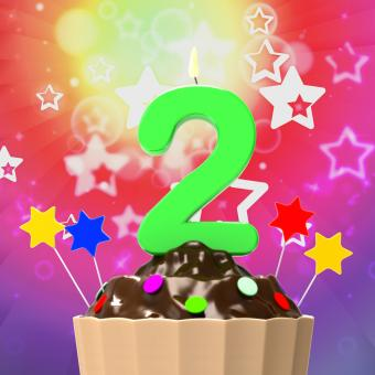Free Stock Photo of Two Second Indicates Birthday Party And 2