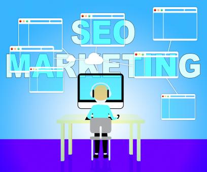 Free Stock Photo of Seo Marketing Shows Search Engines 3d Illustration