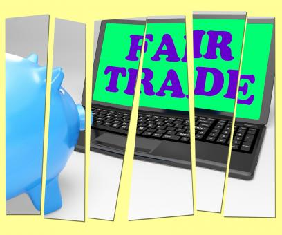 Free Stock Photo of Fair Trade Piggy Bank Means Fairtrade Ethical Shopping