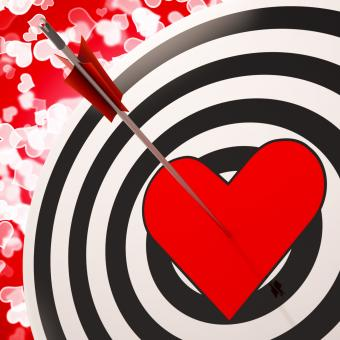 Free Stock Photo of Heart Target Shows Success In Romance