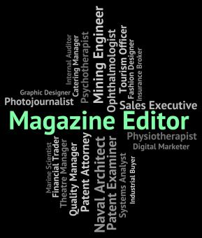 Free Stock Photo of Magazine Editor Represents Periodical Journal And Manager