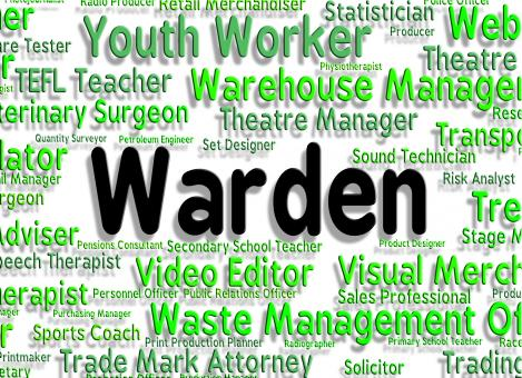 Free Stock Photo of Warden Job Indicates Occupations Position And Steward