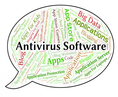 Free Stock Photo of Antivirus Software Indicates Application Shielding And Security