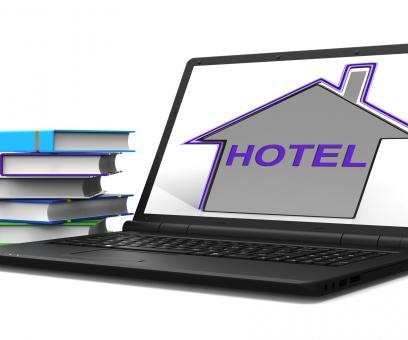 Free Stock Photo of Hotel House Tablet Means Holiday Accommodation And Vacancies