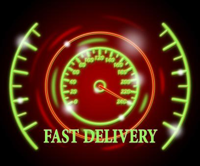 Free Stock Photo of Fast Delivery Represents High Speed And Action