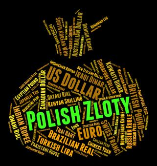 Free Stock Photo of Polish Zloty Means Forex Trading And Currencies
