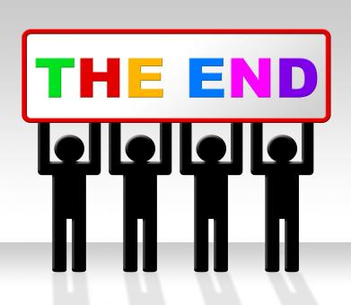Free Stock Photo of The End Represents Final Finale And Conclusion