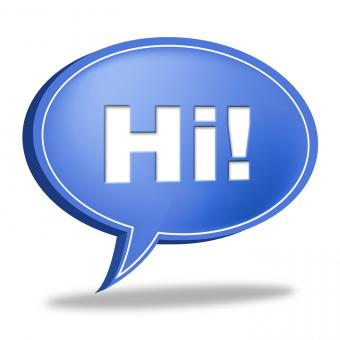 Free Stock Photo of Hi Speech Bubble Represents How Are You And Chat