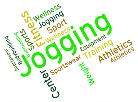 Free Stock Photo of Jogging Word Shows Exercise Workout And Health