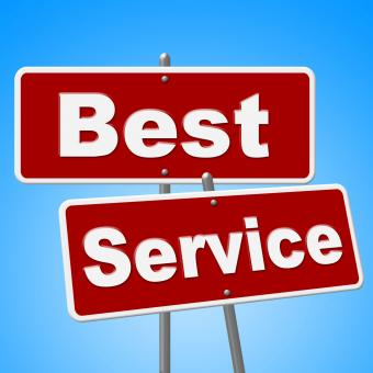 Free Stock Photo of Best Service Signs Means Number One And Advice