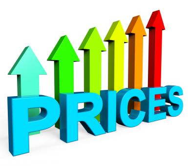 Free Stock Photo of Prices Increase Represents Financial Report And Diagram