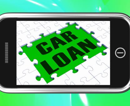 Free Stock Photo of Car Loan On Smartphone Shows Car Rent