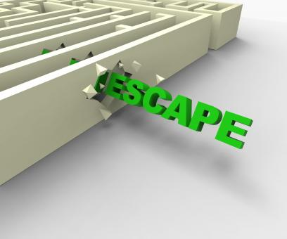 Free Stock Photo of Escape From Maze Shows Jailbreak