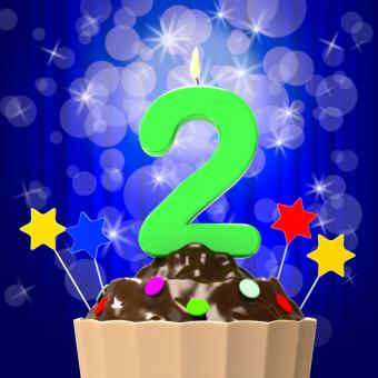 Free Stock Photo of Two Second Indicates Happy Birthday And 2Nd