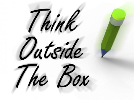 Free Stock Photo of Think Outside the Box Displays Creativity and Imagination