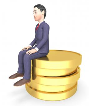 Free Stock Photo of Character Finance Shows Business Person And Success 3d Rendering
