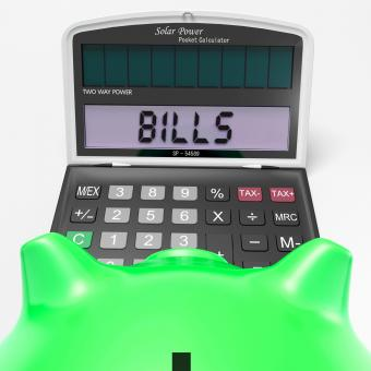 Free Stock Photo of Bills Calculator Shows Invoices Payable And Accounting
