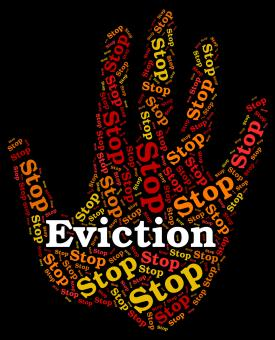 Free Stock Photo of Stop Eviction Represents Throw Out And Caution
