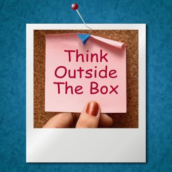 Free Stock Photo of Think Outside The Box Photo Means Different Unconventional Thinking
