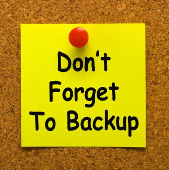 Free Stock Photo of Dont Forget To Backup Note Means Back Up Data