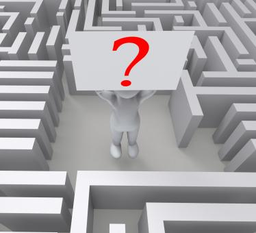 Free Stock Photo of Question In Maze Showing Confusion