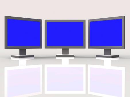 Free Stock Photo of Copyspace Monitors Represents Flat Screen And Connection