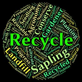 Free Stock Photo of Recycle Word Shows Earth Friendly And Recyclable