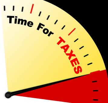 Free Stock Photo of Time For Taxes Message Representing Taxation Due