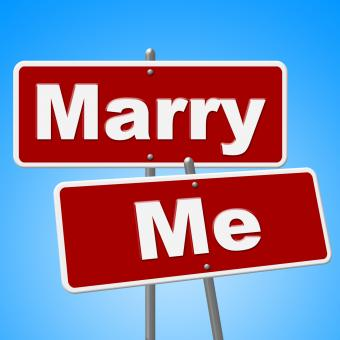Free Stock Photo of Marry Me Signs Indicates Get Married And Advertisement