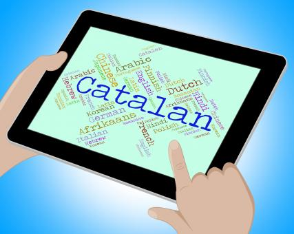 Free Stock Photo of Catalan Language Means Text Catalonia And International