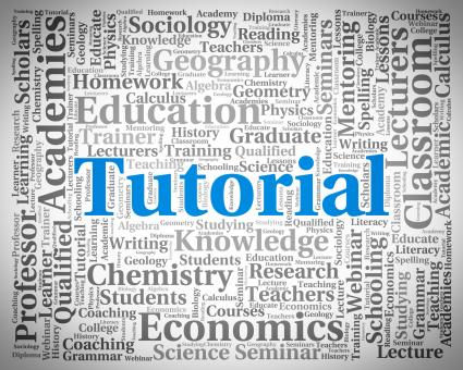 Free Stock Photo of Tutorial Word Indicates Online Tutorials And College