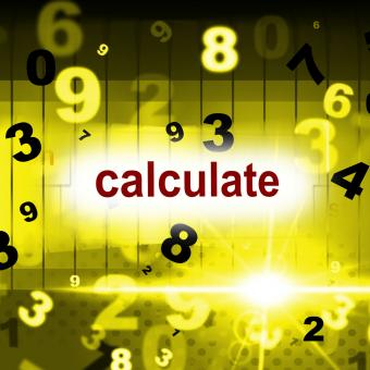 Free Stock Photo of Calculate Counting Shows One Two Three And Calculation