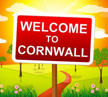 Free Stock Photo of Welcome To Cornwall Shows United Kingdom And Britain