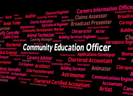 Free Stock Photo of Community Education Officer Means Team Work And Recruitment