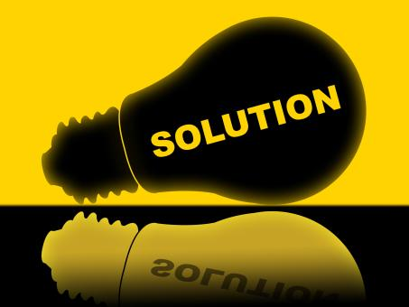 Free Stock Photo of Solution Lightbulb Represents Solutions Success And Solved