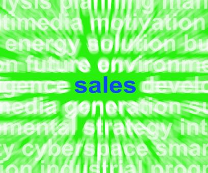Free Stock Photo of Sales Word Shows Marketing Selling Products To Consumers