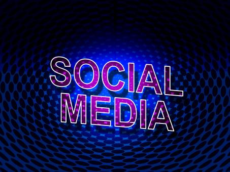 Free Stock Photo of Social Media Sign Shows Network People And Communication