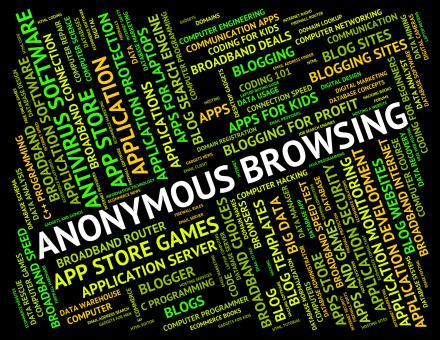 Free Stock Photo of Anonymous Browsing Indicates Browser Undesignated And Unidentified