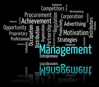Free Stock Photo of Management Word Indicates Directors Wordcloud And Administration