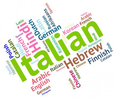 Free Stock Photo of Italian Language Indicates Speech Text And Foreign