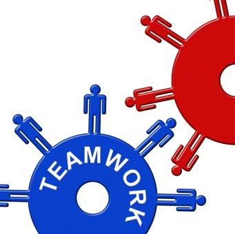 Free Stock Photo of Teamwork Cogs Shows Gear Wheel And Clockwork