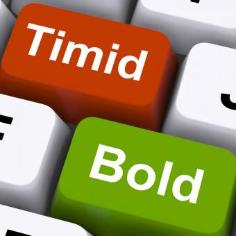 Free Stock Photo of Timid Bold Keys Show Shy Or Outspoken