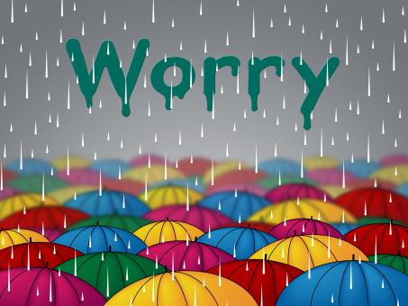 Free Stock Photo of Worry Rain Shows Umbrellas Precipitation And Umbrella