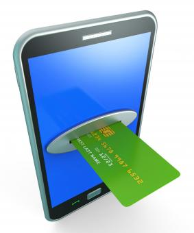 Free Stock Photo of Credit Card Online Shows Retail Sales And Web